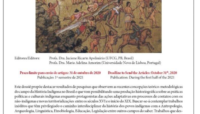 Chamada Para O Dossiê Revista História, São Paulo UNESP  Dossie: Povos Indígenas…