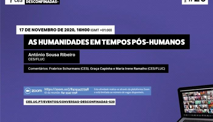 Seminário #20   «Conversas Desconfinadas» – As Humanidades Em Tempos Pós-humanos