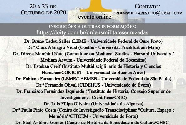 I Seminário Internacional Sobre Ordens Militares E Cruzadas  Evento Virtual Prom…