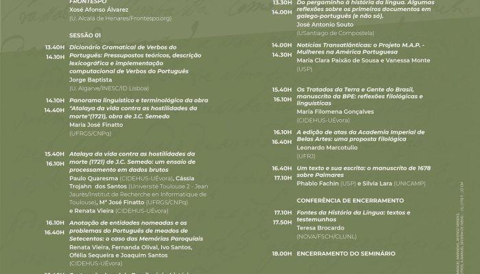 As Inscrições Terminam AMANHÃ, Dia 24 De Novembro   V Seminário Internacional Hi…