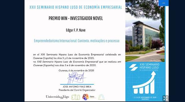 Prémio WIN – Melhor Investigador Jovem Atribuído A Estudante Da UBI @ UBI