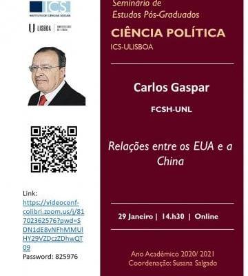"""Na 6ª Feira (29 JANEIRO)- 14H30 – ONLINE  Seminário EPG Ciência Política  """"Relaç…"""