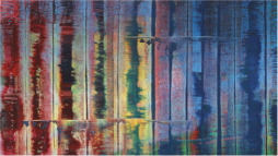 Gerhard Richter, Abstraktes Bild 780-4, 1992. Detail. Oil on canvas, 102 1/2 x 78 3/4 in., private collection (sold at Sotheby's 11/09/10).
