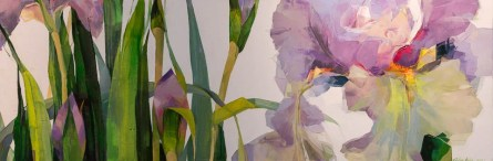 """Blooming Irises"" Acrykic on canvas $2,200"