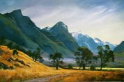 """Dart Valley, Central Otago""Oil on canvas$2,500"