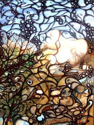 """Contemplation"" Watercolour & Ink $1,350"