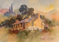 """""""Morven Hills, Old Cook House"""" watercolour $595"""