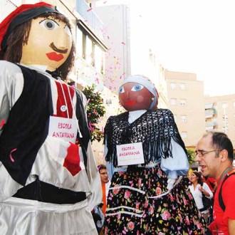 Participació dels gegants i capgrossos de l'Escola Antaviana a la Titellada 2010