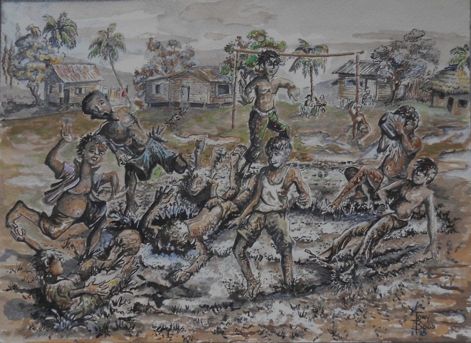 """""""MUD FOOTBALL"""" – heralding the rains By Anthony Boos"""