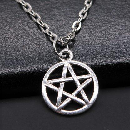 Vintage Pentagram Star Pendant Necklace