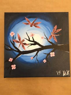 Canvas Cherry Blossom Tree