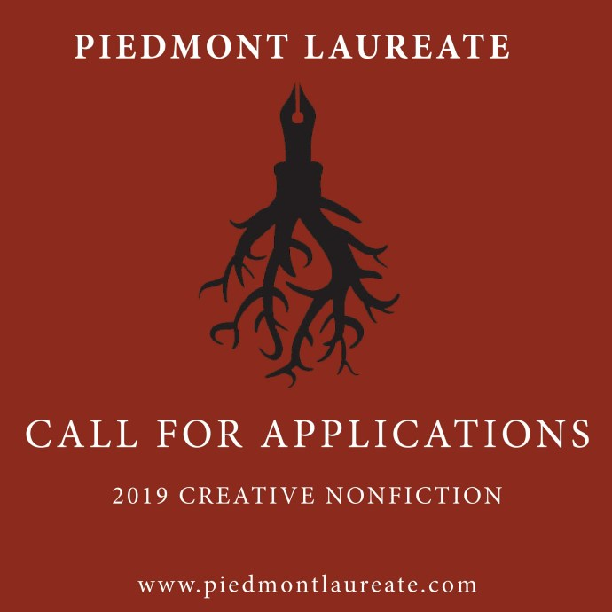 Piedmont Laureate Program Issues Call for Writers of Creative Non-Fiction