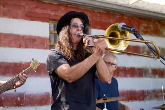 Person playing trombone