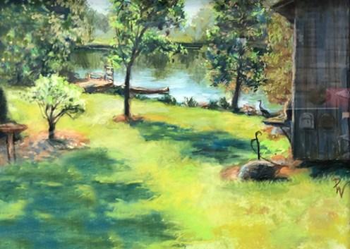 "Sponsor's Choice, Jerry's Artarama: ""Hall's Mill Pond"" by Dorothy Whitmore of Hillsborough, NC"