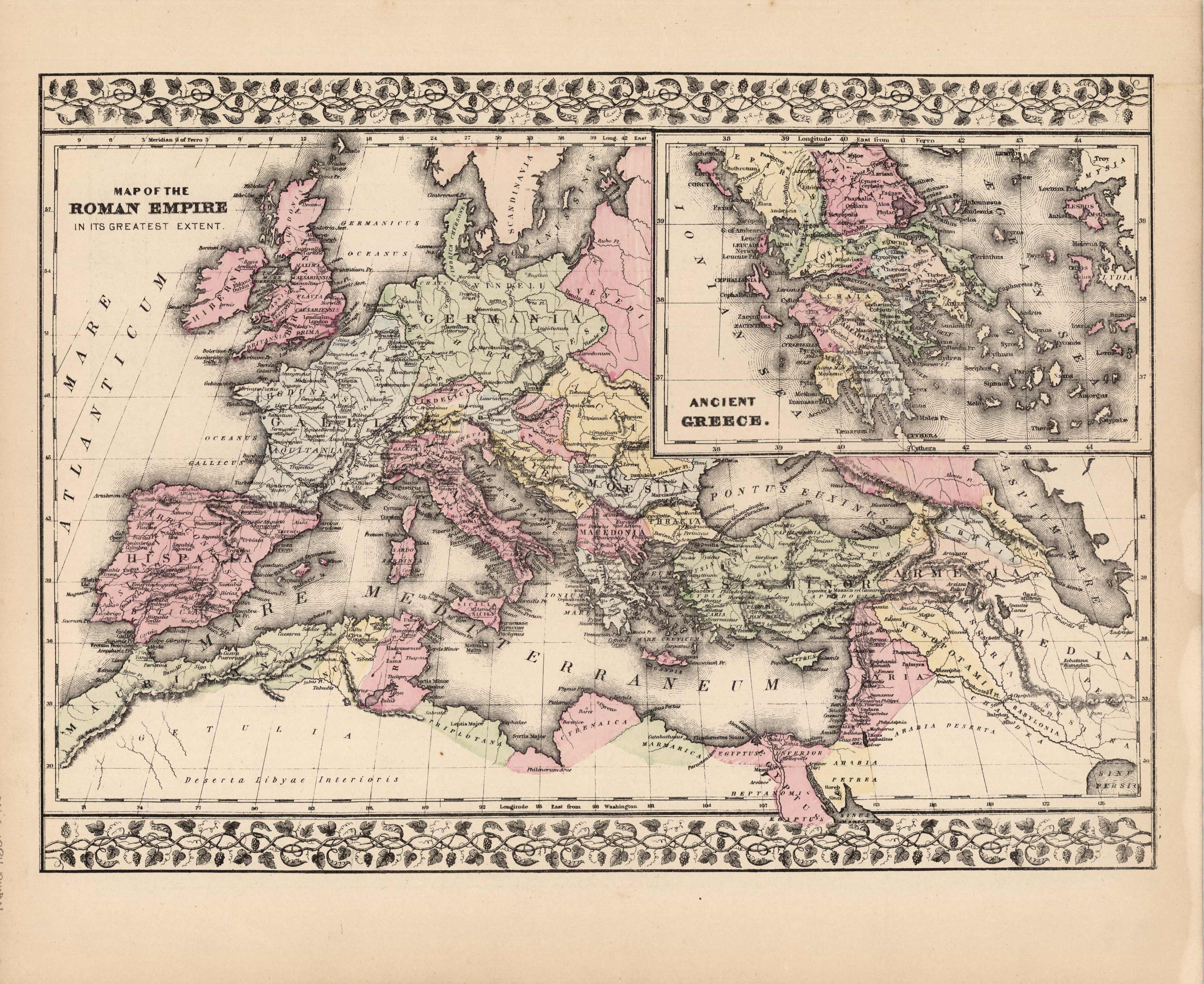 Map Of The Roman Empire Ancient Greece