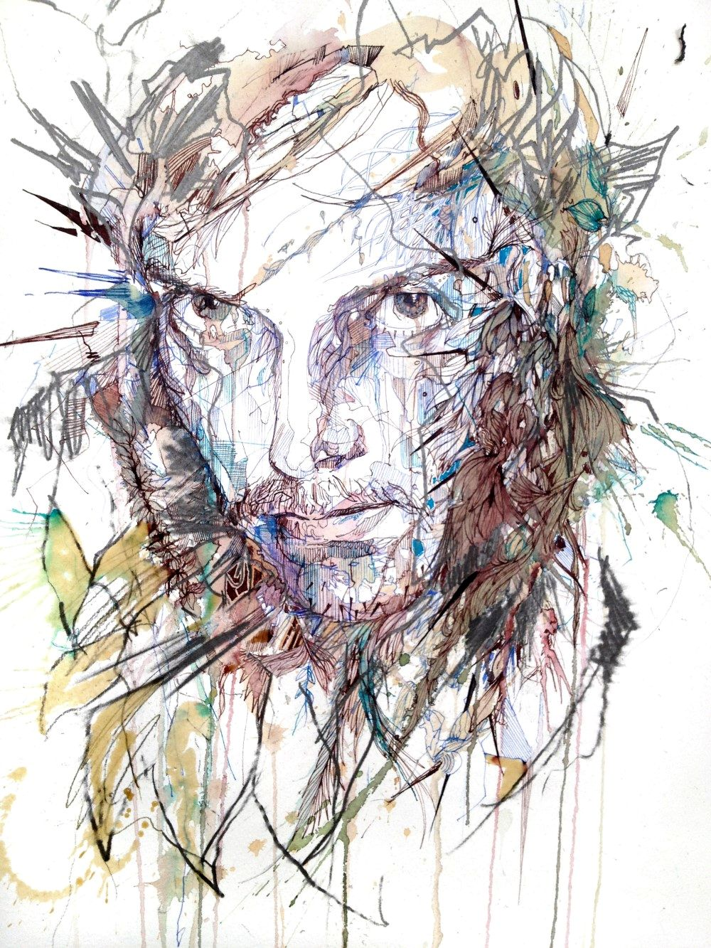 Range of Arts - Painting - Carne Griffiths - The Green Man