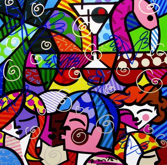 Range of Arts - Romero Britto - Fine Art Prints - News Cafe