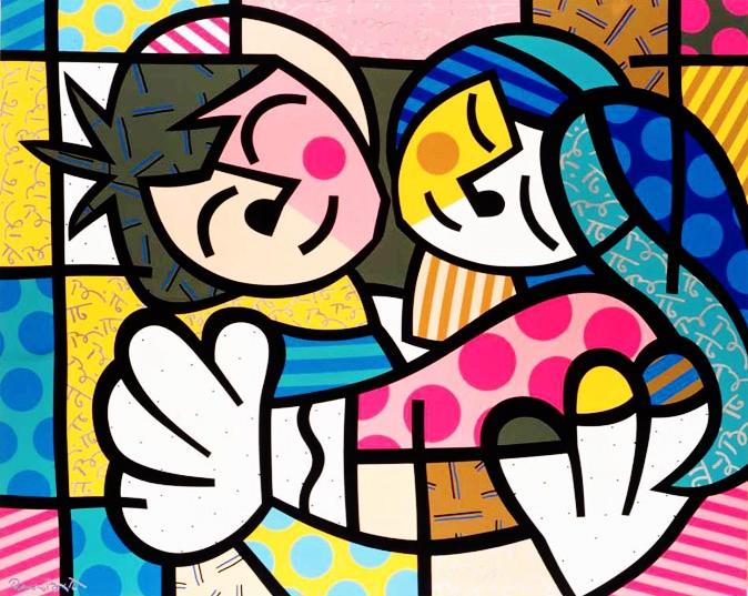 Range of Arts - Romero Britto - Original Artworks - The Hug