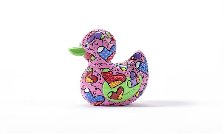 Range of Arts - Sculpture - Romero Britto - Mini Duck Hearts