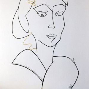 laure simoneau lor wire sculptor french artist contemporary art portrait