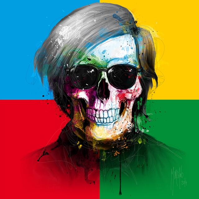 patrice murciano painter artist for sale exhibition skulls warhol love colors gallery honfleur neo pop