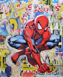 emmanuel albaret artist price collage super heros honfleur london