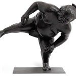 Bronze sumo sculpture for inside or outside by artist Alexandra Gestin for sale price on request