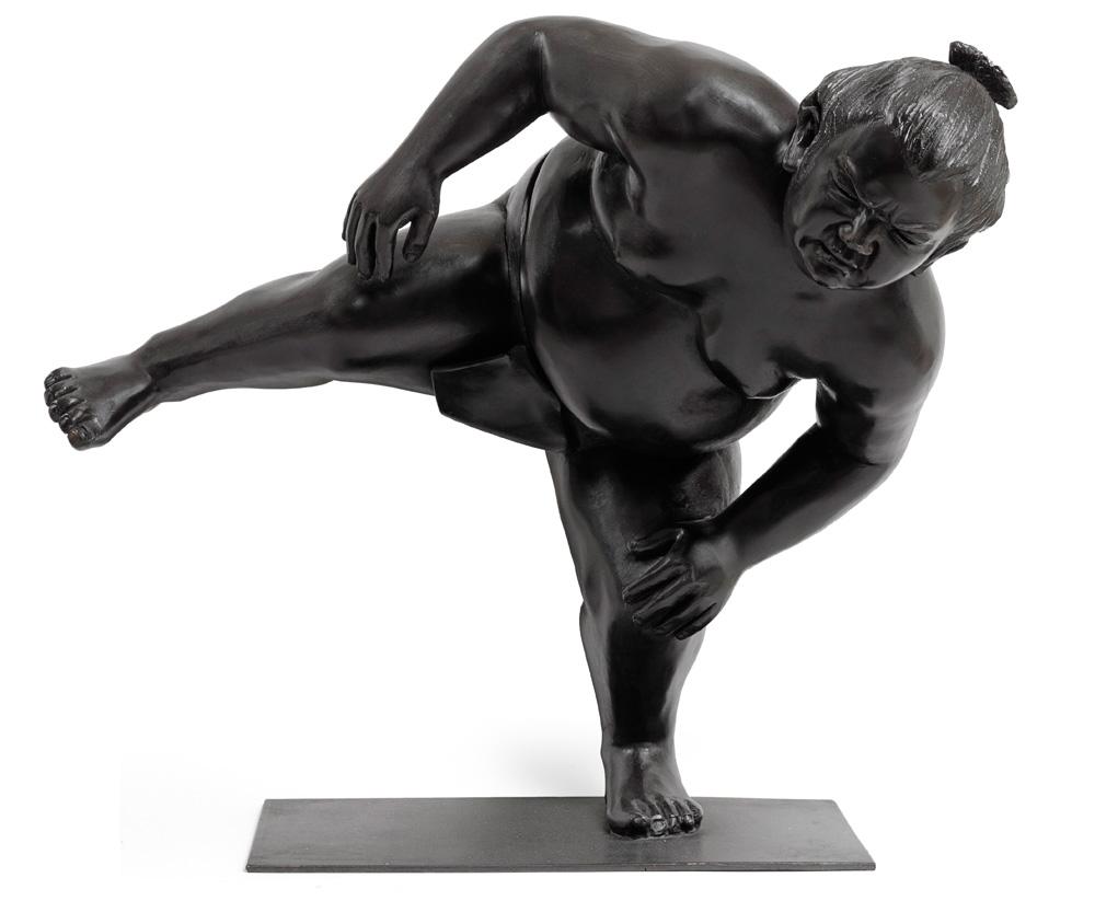alexandra gestin artist sumo sculpture bronze resin outdoor honfleur range of arts