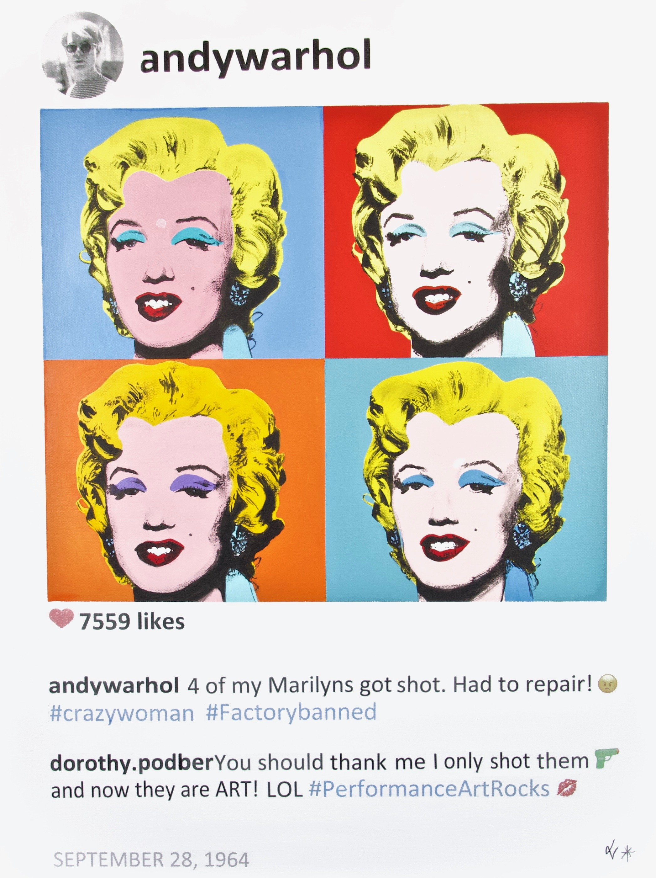 laurence de valmy artist instagram roy lichtenstein keith haring robert indiana ellsworth kelly andy warhol marylin acrylic instagram contemporary art nyc honfleur