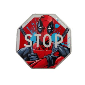 thierry beaudenon comic art deadpool acrylic hero roadsign street art