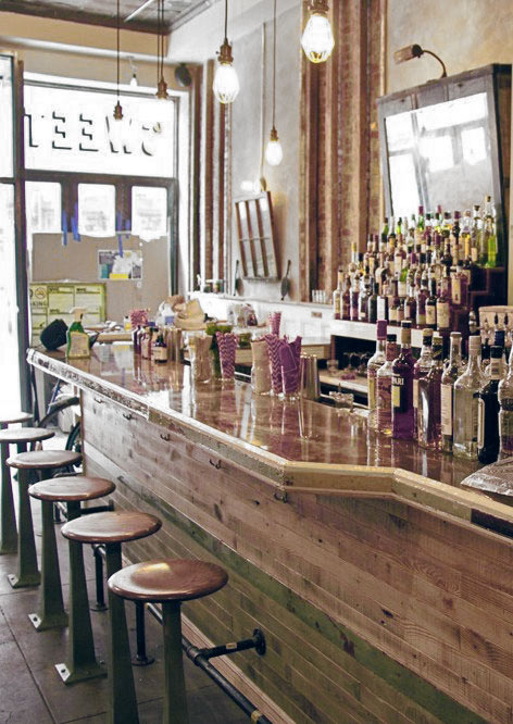 Wood bar for Sweet Chick - Lower East Side