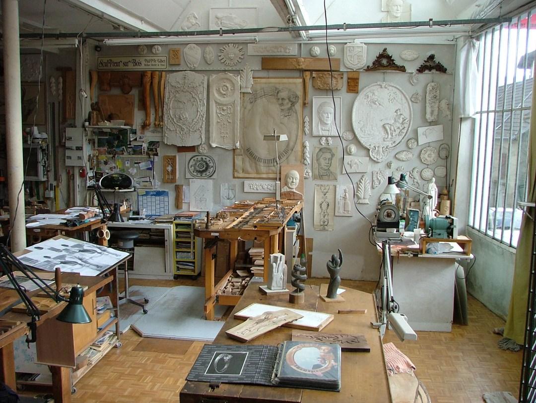 Atelier de sculpture sur bois de Philippe Gilbert