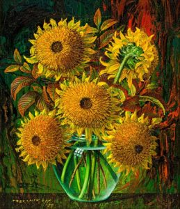 Vladimir Griegorovich Tretchikoff, Sunflowers, Sold R1 705 200
