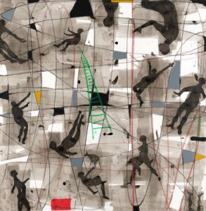 Nú Barreto, 'Optimismo Duvidoso', 2016, mixed media on canvas, 130cm x 130cm .