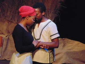 Joseph and his wife sharing an intimate moment. Photo: Thato Tsotetsi / Artsvark