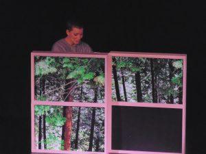 Jemma Kahn in the opening scene of In Bocca Al Lupo, the final instalment in her kamishibai trilogy.