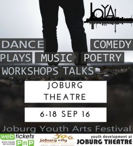 Joburg Youth Arts Festival runs from 6 to 18 September 2016