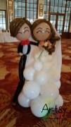 Wedding balloon couple display