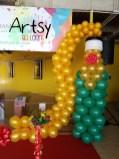 Wine bottle balloon sculpture balloon decoration(4)