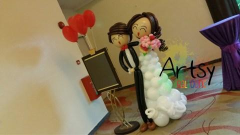 1.7m tall (170cm) wedding couple display