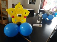 Bunch of sea creature balloon table centerpiece balloon sculpture starfish Balloon Sculpture table centerpiece decoration singapore