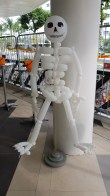 Skeleton balloon sculpture for halloween balloon decorations