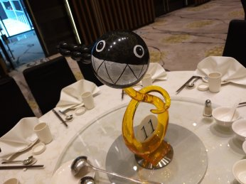 Bullet bill Balloon sculpture Table Centerpiece
