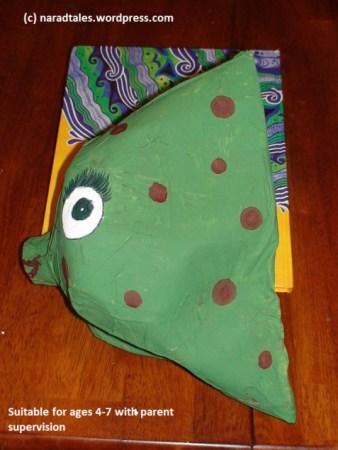 upcycled Milk carton fish - green craft