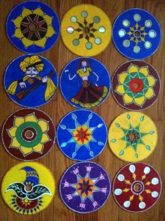 Recycled CD art - Upcycle CDS - Indian Art