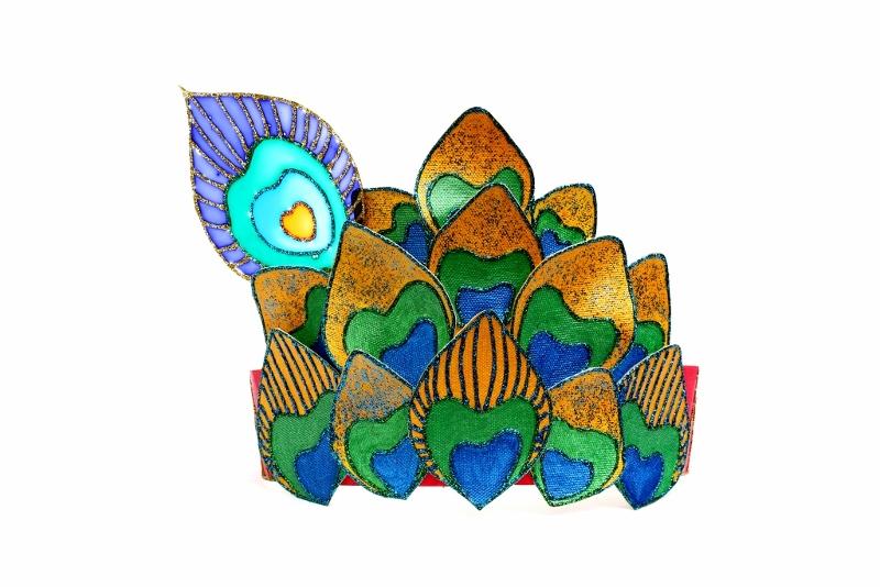 Krishna peacock feather crown