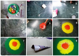 Happy Dussehra - Easy Rangoli Designs