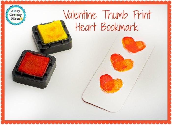 Valentine Thumb Print Heart Bookmark