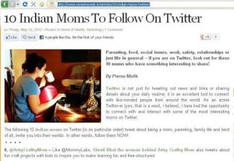 Women's web – 10 Indian Moms To Follow On Twitter