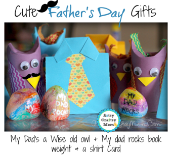 Father's day Card & craft - Shirt card , wise old owl craft , my dad rocks